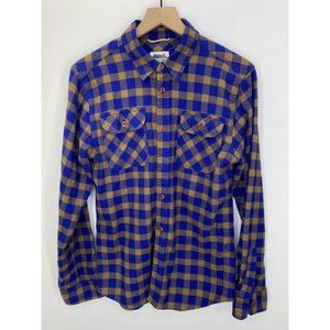 Edgevale Long Sleeve Button-Down Shirt Size Medium
